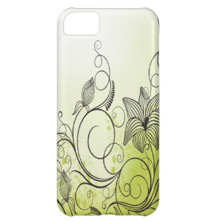 Green and Beautiful Flowers iPhone 5C Case