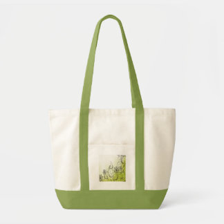 Green and Beautiful Flowers Tote Bag
