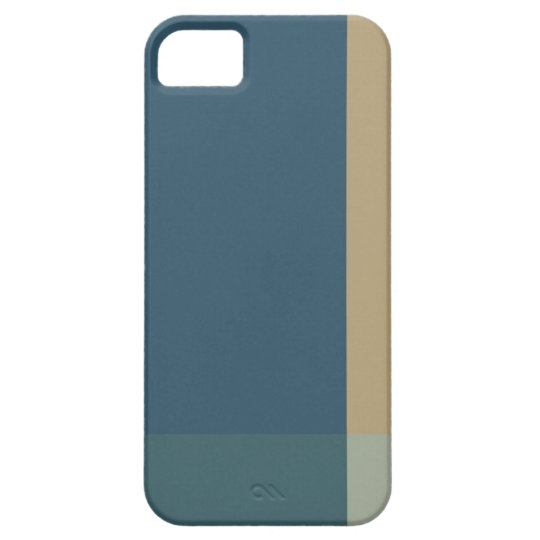 Green and Beige Color Blocks iPhone SE/5/5s Case