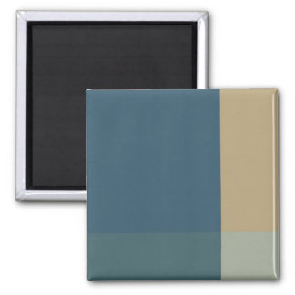 Green and Beige Color Blocks Magnet