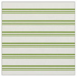 [ Thumbnail: Green and Beige Colored Lined/Striped Pattern Fabric ]