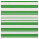 [ Thumbnail: Green and Beige Colored Striped Pattern Fabric ]