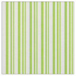 [ Thumbnail: Green and Beige Lined Pattern Fabric ]