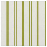 [ Thumbnail: Green and Beige Lines Fabric ]