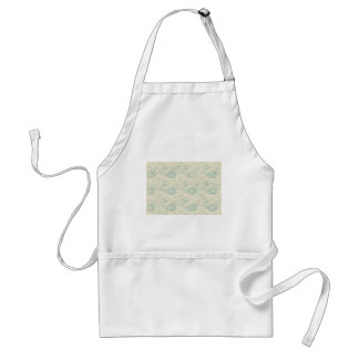 Green and Beige Paisley Print Adult Apron