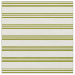 [ Thumbnail: Green and Beige Pattern of Stripes Fabric ]