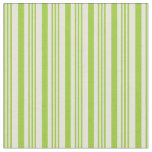 [ Thumbnail: Green and Beige Striped/Lined Pattern Fabric ]