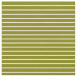 [ Thumbnail: Green and Bisque Lined/Striped Pattern Fabric ]