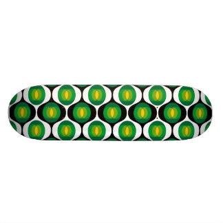 Green and black 80's design skateboard deck
