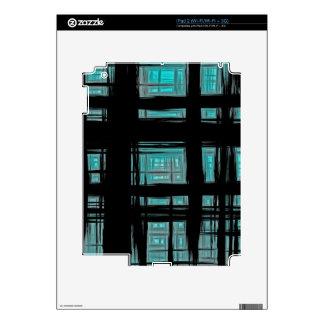 Green and Black Abstract iPad 2 Skin