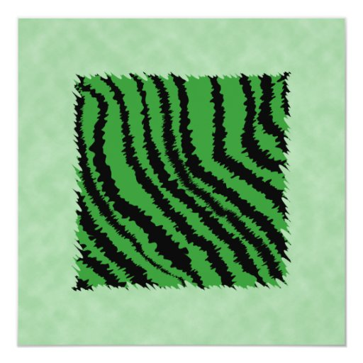 Green and black abstract jungle pattern. 5.25x5.25 square paper invitation card