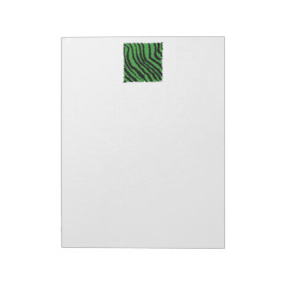 Green and black abstract jungle pattern. memo pads