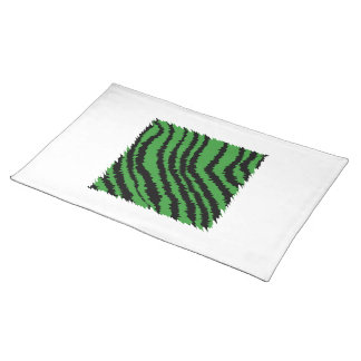 Green and black abstract jungle pattern. cloth place mat