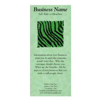 Green and black abstract jungle pattern. rack card