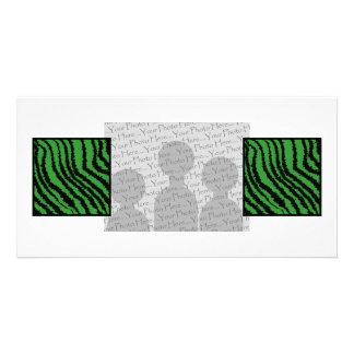 Green and black abstract stripes pattern. card