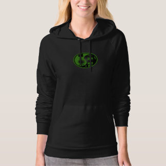 Green and Black Acoustic Electric Guitars Yin Yang Hoodie