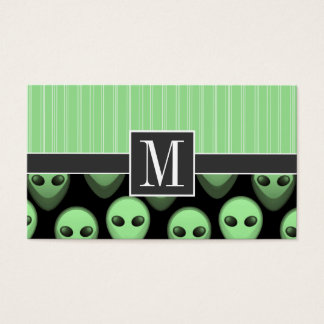 Green and Black Alien Business Card