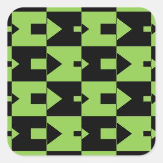 Green and Black Arrows Square Sticker