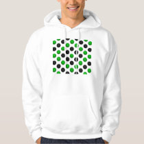 Green and Black Basketball Pattern Hoodie