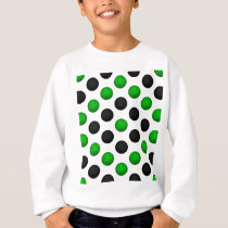 Green and Black Basketball Pattern Sweatshirt
