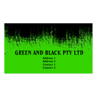 Green and Black Blistered Business Card