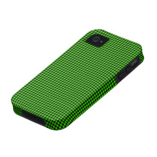 Green and Black Checks iPhone 4 Cover