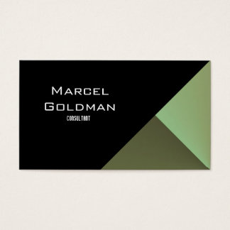 Green and black city finance business card