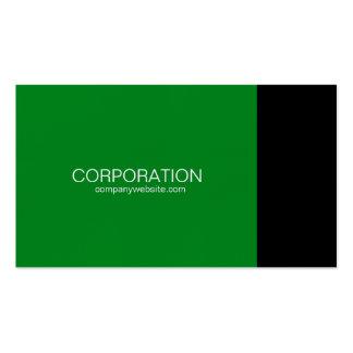 Green and black classy business card with website