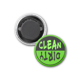 Green and Black Clean Dirty Magnet for Dishwasher