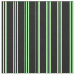 [ Thumbnail: Green and Black Colored Stripes Fabric ]
