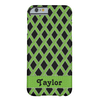 Green and black crisscross monogram cell phone cas barely there iPhone 6 case