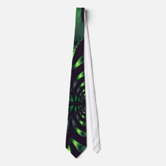 Green and Black Curves Tie