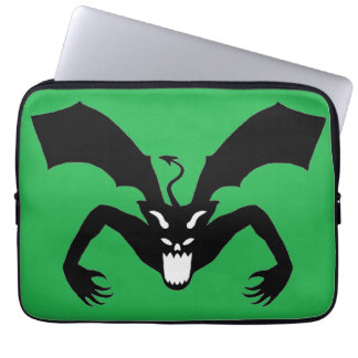 Green And Black Devil Laptop Computer Sleeves