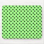 Green and black Dots Mousepad