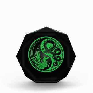 Green and Black Dragon Phoenix Yin Yang Award