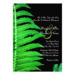 Green and Black Fern Wedding Invitation