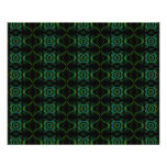 Green and black floral pattern. custom flyer