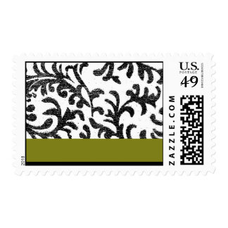 Green and Black Floral Pattern Stamps