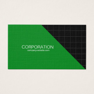 Green and black grid cool business card