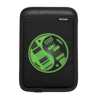 Green and Black Guitar and Bass Yin Yang Sleeve For iPad Mini