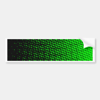 Green And Black Halftone Bumper Sticker