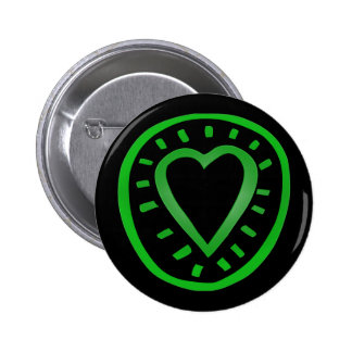 Green and black Heart -2- Pinback Button