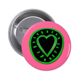Green and black Heart -3- Pinback Button