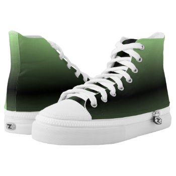 Green and Black High-Top Sneakers