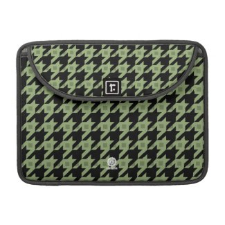 Houndstooth green laptop case