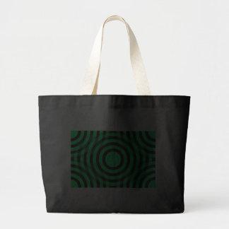 green_and_black_interlocking_concentric_circles tote bag