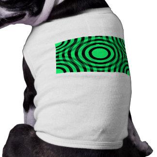green_and_black_interlocking_concentric_circles playera sin mangas para perro