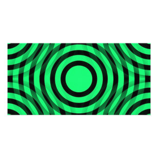 green_and_black_interlocking_concentric_circles tarjeta fotografica