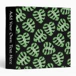 Green and Black Leaf Pattern. Vinyl Binders