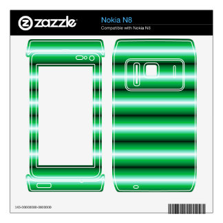 Green and black line Pattern Decal For Nokia N8